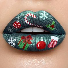 If you are going to a Christmas makeup party, then you must not miss these sexy makeup lips ideas. These exclusive Christmas makeup lips ideas look so amazing, these great ideas have made us the focus of the party. Lip Art, Lipstick Art, Lipstick Colors, Lip Colors, Lipsticks, Liquid Lipstick, Grey Lipstick, Christmas Makeup Look, Holiday Makeup