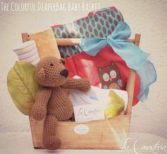 The Colorful Diapergbag Baby Basket es un regalo creativo y súper original para mámás embarazadas con una colorida pañalera con elegante estampado, funa de mamila, blankies hipoalergénicos, nuestro Teddy Vintage y más! Con una paleta de color de alegre es una canasta de regalo boutique perfecta para dar la bienvenida a bebé! $780 Pesos PARA COMPRAR EN LÍNEA HAZ CLICK AQUÍ Contacto: lacanasteria@gmail.com