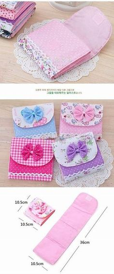 New Lovely Girlish Sanitary Napkins Pads Carrying Easy Bag Small Articles Gather Pouch Case Bag Dropshipping Paquet De Stockage Sewing Tutorials, Sewing Crafts, Sewing Projects, Sewing Patterns, Projects To Try, Simple Bags, Easy Bag, Sanitary Napkin, Pouch Tutorial