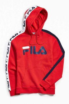 Shop FILA Fifty-Fifty Hoodie Sweatshirt at Urban Outfitters today. Hoodie Sweatshirts, Hoody, Sweatshirt Outfit, Sweater Hoodie, Sweat Cool, Tokyo Street Fashion, Fila Outfit, Grunge Outfits, Fashion Outfits