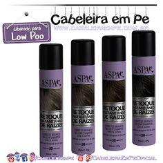 Retoque Instantâneo De Raízes (Preto e Castanhos Claro, Médio e Escuro) - Aspa (Low Poo) Leave In, 30, Shampoo, Nail Polish, Bottle, Beauty, Instagram, Quotation Marks, Natural Hair