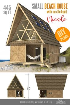 The most stylish beach cabin design ever! The most stylish beach cabin design ever! Easy Wood Projects, Cool Woodworking Projects, Woodworking Plans, Project Ideas, Tiny House Trailer, Small House Plans, Small Beach Houses, Tiny Houses, Earthship Home