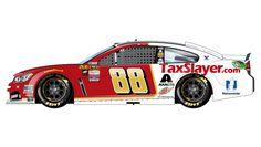 2016 Paint Scheme Preview | Dale Earnhardt Jr. will drive the No. 88 TaxSlayer Chevrolet.