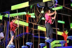 WonderWorks in Pigeon Forge has the world's largest indoor ropes course! This glow-in-the-dark adventure features swinging steps, lily pads, a tremor bridge and more! Pigeon Forge Attractions, Sevierville Tennessee, Ropes Course, Places Worth Visiting, Great Smoky Mountains, The Good Place, Lily, Bridge, Glow
