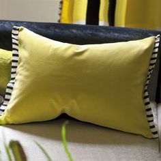 Love this hit of yellow and black in the LR - picks up the yellow in your paintingDesigners Guild - Fabrics & Wallpaper Collections, Furniture, Bed and Bath, Paint, and Luxury Home Accessories