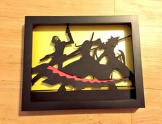 8x10 Soul Eater Silhouette by ThePaperPonyPlace on Etsy