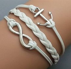 anchor and infinity wish bracelet