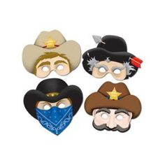 Western Masks 4ct for $3.97 | Kate's Party Ideas