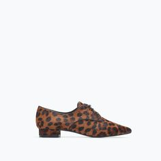 ZARA - SHOES & BAGS - PRINTED LEATHER BLUCHER