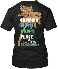 Camping T Shirt Black T-Shirt Back