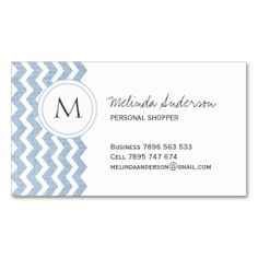 Personal Shopper Chevron Business Card. I love this design! It is available for customization or ready to buy as is. All you need is to add your business info to this template then place the order. It will ship within 24 hours. Just click the image to make your own!