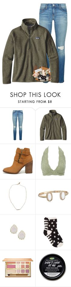"""Everyone copying my style ."" by morgankailah ❤ liked on Polyvore featuring Rebecca Minkoff, Patagonia, Steve Madden, Charlotte Russe, Devon Pavlovits, Kendra Scott, Free Press, tarte and Alex and Ani"