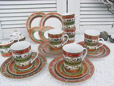 Vintage Weihnachtsdeko - Kaffeeservice Weihnachtsservice Merry Christmas - ein Designerstück von artdecoundso bei DaWanda
