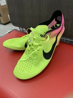 new arrival c8e02 54e17 Nike Zoom Mamba 3 SIZE 12 Mens Track Racing Sprinting Spikes Volt New  706617-999