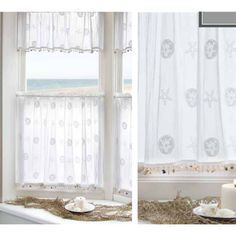 "<p> The <span style=""font-weight: bold;"">Sand Dollar window treatments </span>are a distinctive crushed lace featuring coastal designs of delicate sand dollars and starfishs scattered throughout the curtain. This curtain  has  a 1.5 inch rod pocket. Great calm refreshing look.  This is the perfect coastal curtain to catch the shore breeze breakin..."