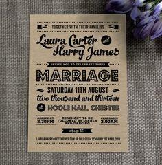 Retro wedding invitation <3 themarriedapp.com hearted <3 // m'arriba un targetó així i vaig a la boda SEGUR!