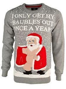 b4c4461819c7 I only get out my baubles once a year - rude Christmas jumper · Christmas  Tee ShirtsFunny Christmas JumpersChristmas SweatersNaughty ...