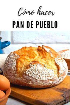 Cómo hacer pan de pueblo. Este pan es perfecto para aquellos que estáis pensando iniciaros en el mundo panarra. Se trata de una receta de pan muy sencilla, en la que lo más importante, como cualquier masa es respetar los tiempos de levados. Por Supuesto, también influye mucho la calidad de los ingredientes que usemos para hacerlo. #pan #recetasdepan #recetas #lacocinadelila