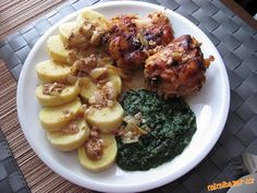 Czech Recipes, Ethnic Recipes, Y Recipe, Baked Chicken, Food Dishes, Baked Potato, Crockpot, Seafood, Pork