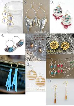 50 DIY Jewelry Tutorials - necklaces, bracelets, earrings, and rings. Would make great gifts.
