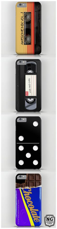 A collection of cool and funny cases for iPhone and Samsung #iphonecase #iphone #samsung #case #retro #vintage #cassette #mixtape #vhs #domino #chocolate