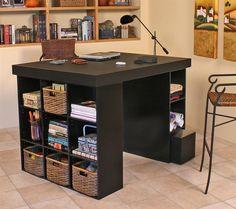 Venture Horizon Project Center with Bookcase & Bin Storage