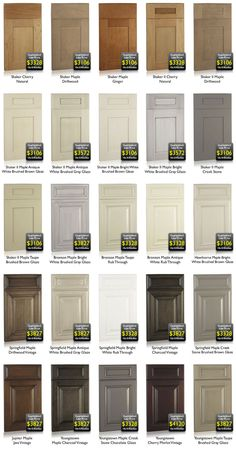 FINISHES :: Tons of pictures of various cabinetry painted finishes...including glazed finishes. Good reference to get and idea of what you want your project to look like... (I really like that Bronson Maple w/ the brushed gray glaze)
