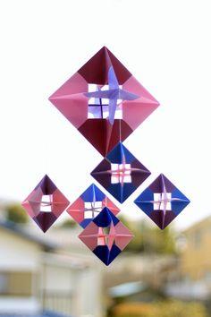 paper origami mobile (tutorial)  In Korean - use translator or just follow detailed photo tute.