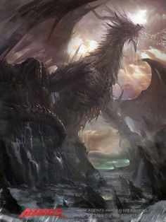 Artist: Atents - Title: Unknown (2nd version) - Card: Bartholomaus, Dragon Emperor (Dusk)