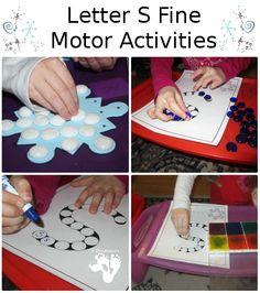 Letter S Fine Motor Activities - 3Dinosaurs.com