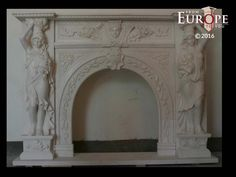 BEAUTIFUL HAND CARVED VICTORIAN STYLE SOLID MARBLE FIREPLACE MANTEL - LST14 #Unbranded