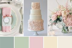 Take a look as we have created a beautifully feminine colour palette for a Pink and Sage Green Wedding celebration...