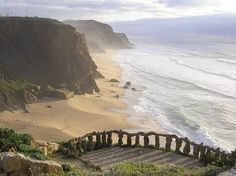 I'd Love To Be On That Little Private Slice Of Bliss, Like Your Own Private Beach! Steps to the Sea, Algarve, Portugal photo via sputkinova Places Around The World, Oh The Places You'll Go, Places To Travel, Places To Visit, Around The Worlds, Algarve, Spain And Portugal, Portugal Travel, Ericeira Portugal