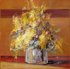 Vaso com flores Carmen Arruda (Brasil, 1934) óleo sobre tela, 60 x 60 cm