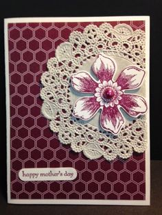 Beautiful Bunch,  Mother's Day Card, Stampin' Up!, Rubber Stamping, Handmade Cards