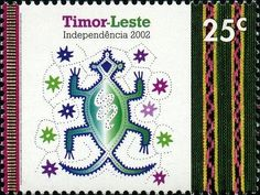 Timor-Leste 2002 - Traditional crocodile (East Timor) (Celebrating Independence) Mi:TL 371,Sn:TL 352,Sg:NT-TL 5 Number Stamps, Timor Leste, Southeast Asia, Independence Day, Postage Stamps, Cambodia, Offset, Crocodile, Vietnam