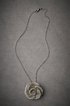 netted rose necklace by evantini from bhldn