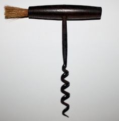 Rosewood Handled Straight Pull with Dusting Brush Corkscrew