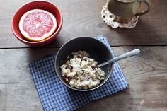 Oatmeal & ruby grapefruit