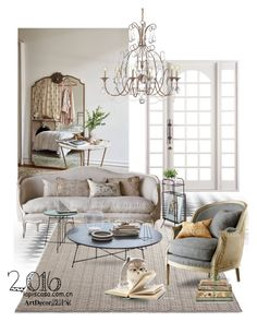 """""""Untitled #56"""" by annie-qiu on Polyvore featuring interior, interiors, interior design, home, home decor, interior decorating, Santoni, Currey & Company and Shabby Chic"""