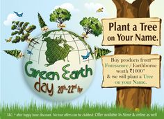 On this Green Earth Day, contribute to Mother Earth. Buy products from The Nature's Co. Foressence and / or Earthborne range and TNC will plant a tree in your or your loved one's name. Offer in-stores as well as online on www.thenaturesco.com from 20th to 22nd April only. Make Mother Nature Proud.
