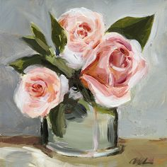 Original Painting Still Life Flowers Roses by ShadyRill on Etsy
