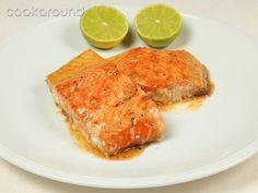 Salmone alla griglia glassato al miele e lime   Cookaround