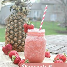 Strawberry Pineapple Sorbet Smoothie