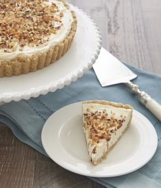 Coconut, pecans, and cream cheese are an irresistible tasty trio in this almost-no-bake Italian Cream Tart. - Bake or Break