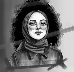 Cute Cartoon Wallpapers, Cute Wallpaper Backgrounds, Girl Cartoon, Cartoon Art, Tmblr Girl, Hijab Drawing, Islamic Cartoon, Art Photography Portrait, Girly M