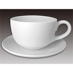 ceramicarts.com all in stock bisque Ontario Latte Cup and Saucer/6