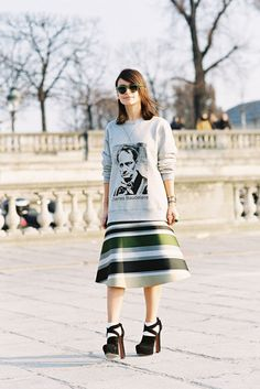 thesidewalk:    fashion-streetstyle:    (via Vanessa Jackman: Paris Fashion Week AW 2013….Miroslava)  Miroslava Duma(in Ostwald Helgason), after Chloe, Paris, March 2013.    http://thesidewalk.tumblr.com