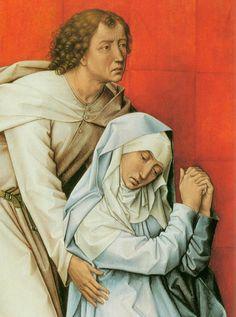 Rogier van der WEYDEN, Crucifixion Diptych (detail of the left panel) c. 1460 Oil on oak panel, 180 x 93 cm Museum of Art, Philadelphia