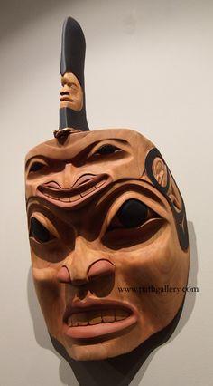 'Killer Whale' - a hand-carved mask by First Nations artist John Wilson (Haisla - from Kitimat/Terrace, BC). Alder and paint. Arte Haida, Haida Art, Native American Masks, Native American Artists, Orcas, John Wilson, Inuit Art, Tlingit, Masks Art